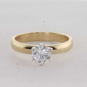 7289 - 6 Claws 3mm Solitaire Engagement Ring Setting