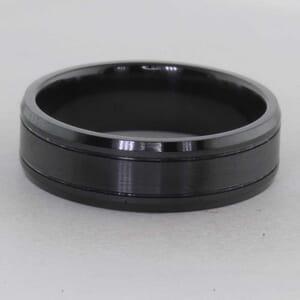 7290 - 7mm, zirconium wedding ring