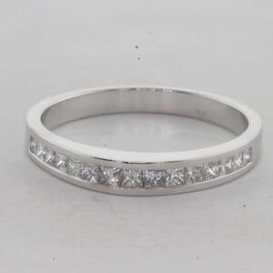 7303 - 0.50 Carat Princess Cut Channel Set Diamond Ring
