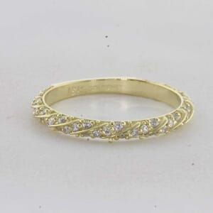 7309 - Entwined Pave Diamond Ring With Round Diamonds