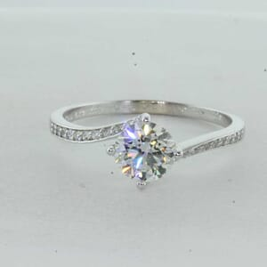 7313 - Twisted Channel Set Engagement Ring