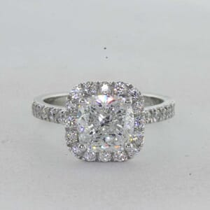 7314 - Halo Cushion Cut Diamond Ring
