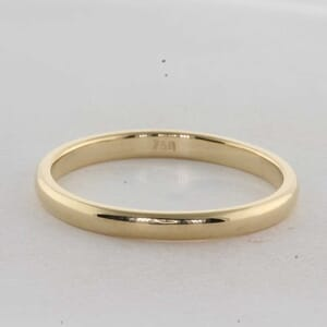 7317 - Matching Plain Solitaire Wedding Ring