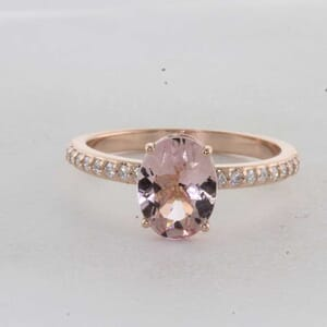 7320 - Oval Morganite Diamond Engagement Ring