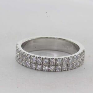 7325 - Double Row Diamond Wedding Ring