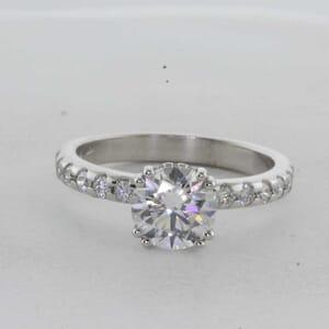 7326 - Under Halo Diamond Engagement ring