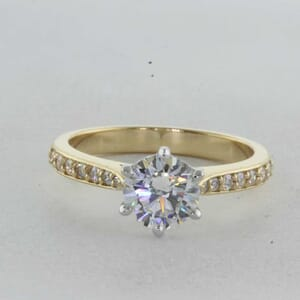7328 - Two Tone Tapper Engagement Ring