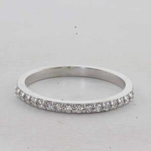 7332 - 0.21 Carat Half Round Diamond Ring