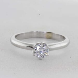 7335 - 6 prong tulip solitaire ring