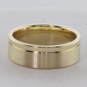 7340 - 8mm Brushed and Shiny Wedding Ring