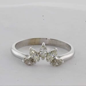 7424 - 5 Stones Marquise Wedding Ring