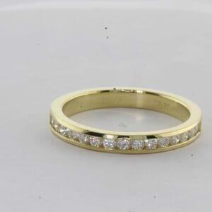 7427 - Channel Set Diamond Wedding Ring 0.34 Carat