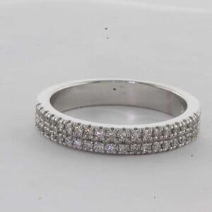 7429 - Double Row Pave Diamond Ring