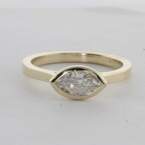 7436 - Bezel Marquise Solitaire Ring