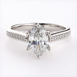 5335 - diamond engagement ring setting set with round brilliant diamonds