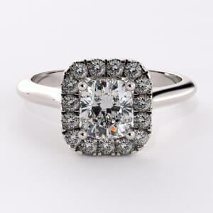 5413 - radiant shaped halo engagement ring