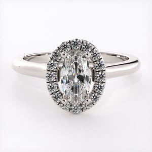 5415 - oval shape halo engagement ring setting