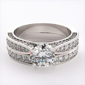 1057 - Engagement And Wedding Ring Set
