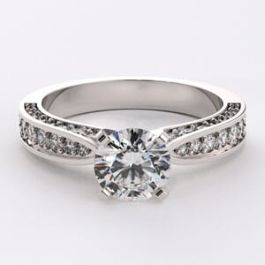 1067 -  Diamond Engagement Ring Set With Round Diamonds (0.80 Ct. Tw.)