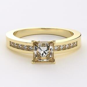 1088 -  Diamond Engagement Ring Set With Princess Diamonds (1/4 Ct.Tw.)