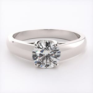 5101 - U Shape Solitaire Engagement Ring