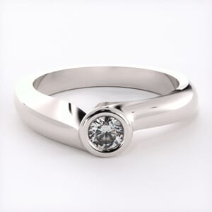 1527 - Bezel Solitaire Engagement Ring