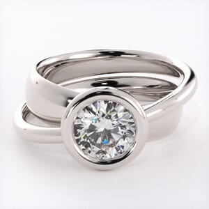1537 - Three Band Engagement Ring