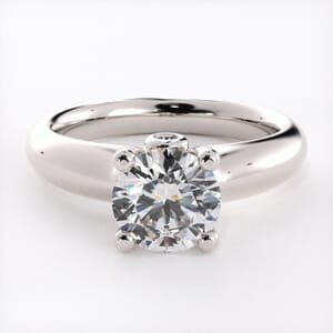 1542 - Solitaire Engagement Ring With Secret Diamonds
