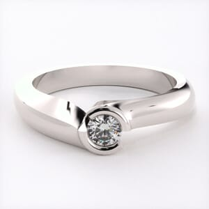 1547 - Pre-Set Bezel Engagement Ring