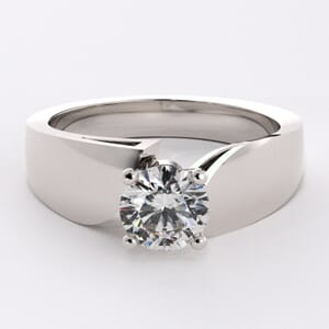 1562 - Curvaceous Solitaire Engagement Ring