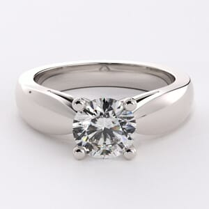 1572 - Full Bodied Solitaire Engagement Ring