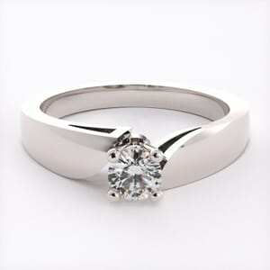 1597 - Solitaire Engagement Ring With A Twist