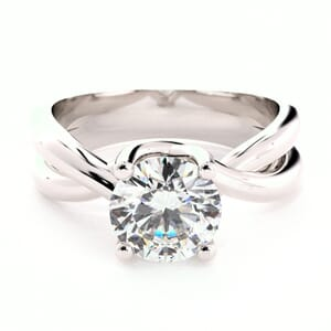 1602 - Twisted Solitaire Engagement Ring