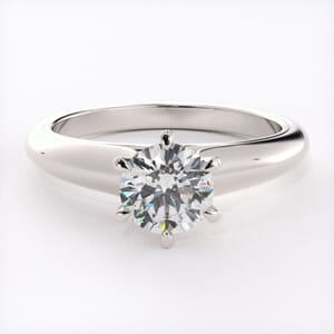 1607 - Six Claw Solitaire Engagement Ring