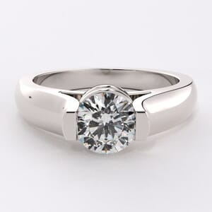 1612 - Modern Solitaire Engagement Ring