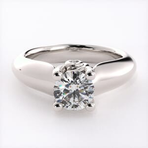 1632 - Modern Solitaire Engagement Ring With Secret Diamonds