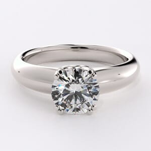 1642 - Double Claw Solitaire Engagement Ring
