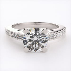 1752 - Classic Engagement Ring With Side Stones