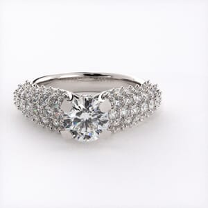 1782 - Bling Engagement Ring With Side Stones