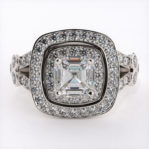 1832 - Modern Twist On A Classic Engagement Ring With Side Stones