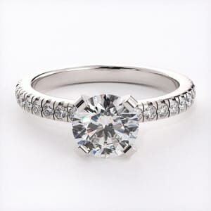3127 - Pave Diamond Engagement Ring