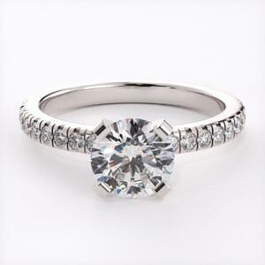 3127 - Pave Diamond Engagement Ring