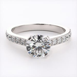 3142 - Elegant Diamond Engagement Ring