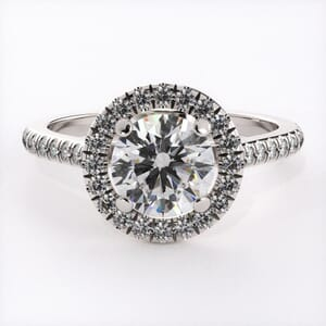 3147 - Perfect Halo Engagement Ring