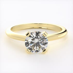 3168 - Solid Solitaire Diamond Engagement Ring