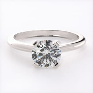 3167 - Solid Solitaire Diamond Engagement Ring