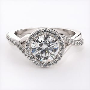 3172 - Diamond Encrusted Halo Engagement Ring