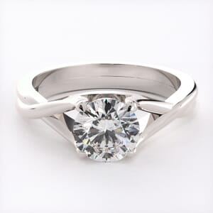 3187 - Twist Of A Classic Solitaire Engagement Ring