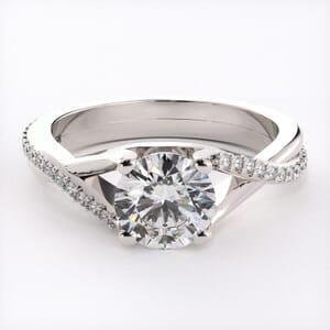 3192 - Diamond Twist Engagement Ring