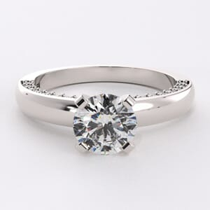 3197 - Solitaire With A Diamond Difference Engagement Ring